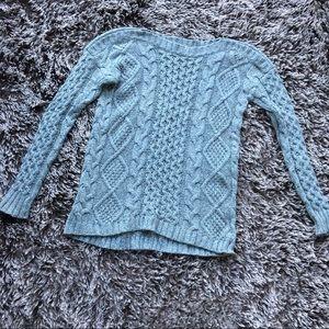 Madewell knit gray sweater cotton rabbit hair S XS